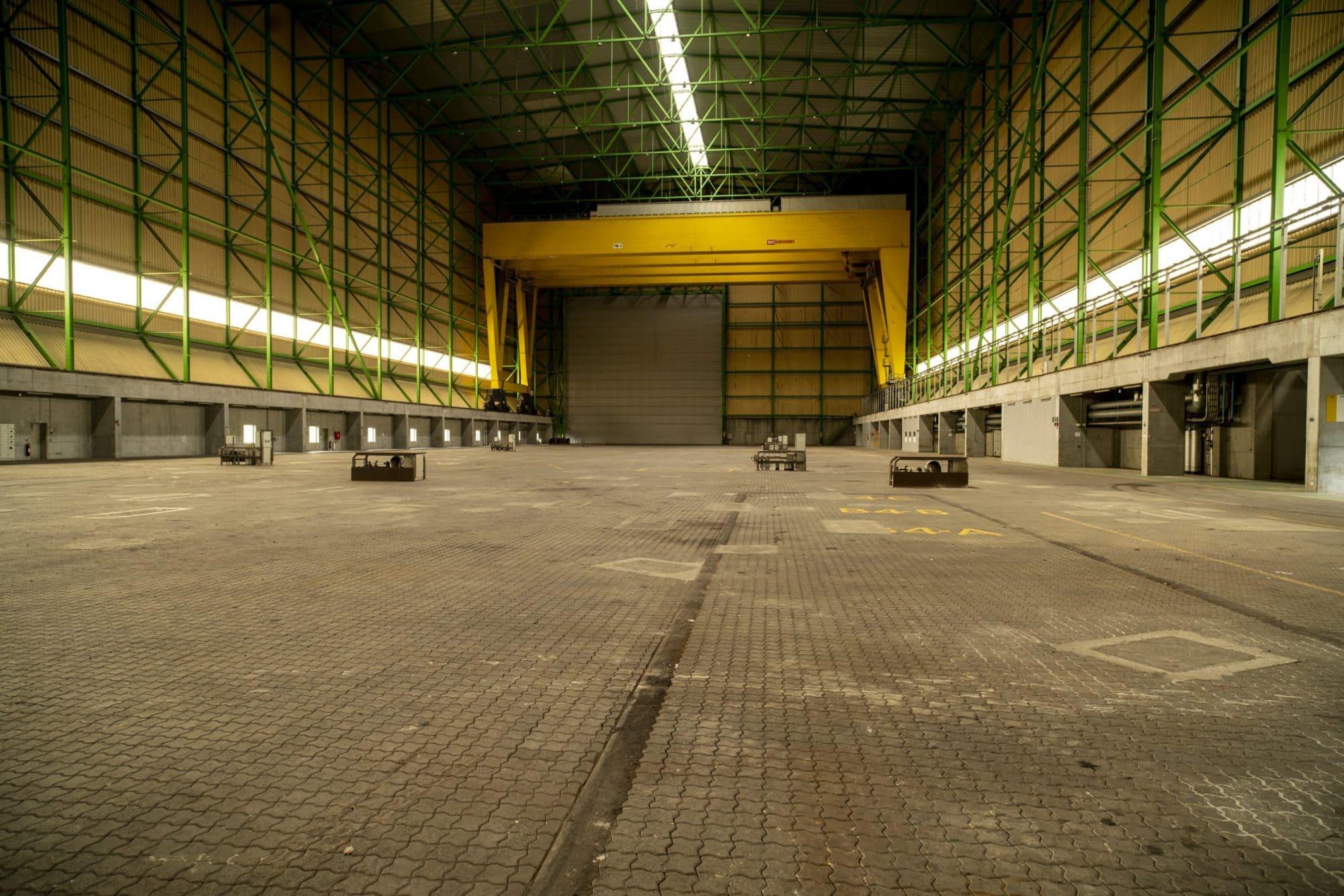 Produktionshal på Odense Havn