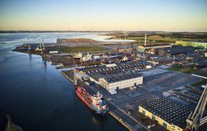 Udsigt over Odense Havn