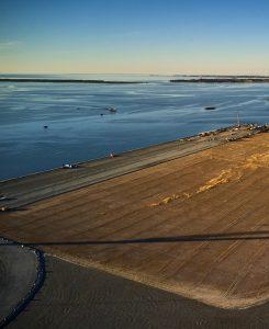 Udsigt over nye arealer på Odense Havn